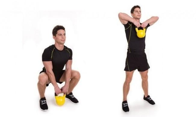 Кроссфит упражнения с гирями