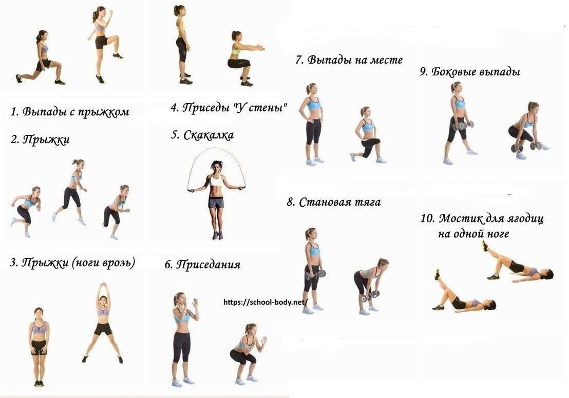 Простые упражнения для похудения